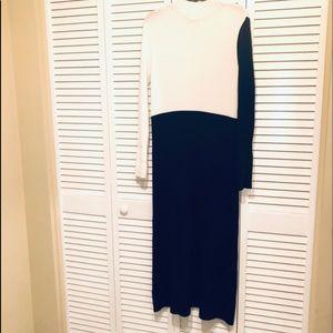 Zara black and white sweater knit dress